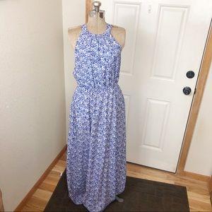 Jessica Simpson Floral Purple Maxi Dress